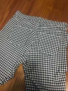 Uniqlo checkered elastic pants