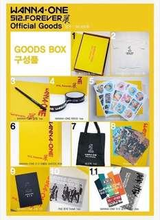 Wanna One 512 FOREVER Exhibition Official Goods