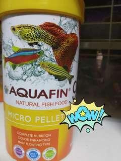 Aquafin Natural Fish Food! Micro Pellets! Great price!