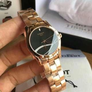 Tissot T-Wave Black with Mother of Pearl Dial Ladies Watch