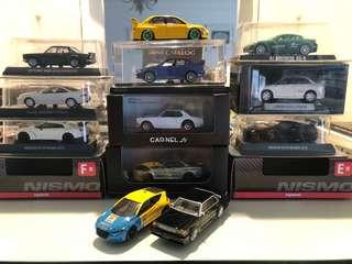 1/64 JDM Diecast SELLING IN LOT TAKE ALL RM830.
