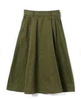 減價 Ray Beams 軍綠色半身裙 全新未剪牌