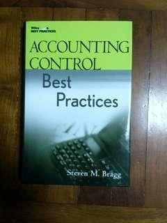 """"""" Accounting control best practices """" 全新未用過。"""