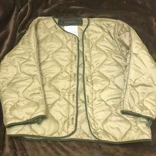 全新 日本 YMCL 外套 M65 衍縫 可扣 夾層 內層 軍事 軍綠 inner down