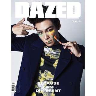 🚚 DAZED KOREA 韓國雜誌 2015 90期 TOP 封面人物 T.O.P #90
