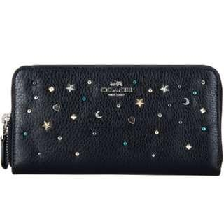 Coach Stardust Stats Accordion Zip Wallet Ladies Long Purse Black. 60% OFF Clearance Sales original price: MYR640!