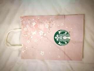 2019 Sakura Cherry Blossom Korea Starbucks Paper Bag