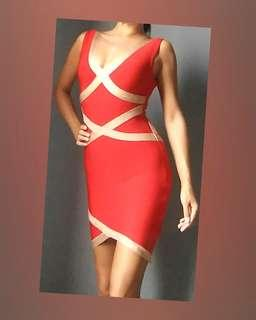 🚚 BANDAGE V neck Bodycon Dress