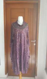 Dress Gamis Ungu Flower