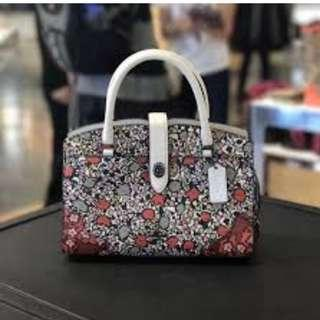 Coach 57703 Multi Floral Mercer 24 Satchel NWT.  60% OFF Clearance Sales original price: MYR839!