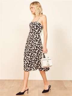 summer black floral dress 連身裙