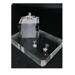 (二手 現貨)法蝶珠寶 天然鑽石 14k十分鑽戒 14k設計款花朵耳環一對 法蝶珠寶保固書 戒圍12 (9.9成新)