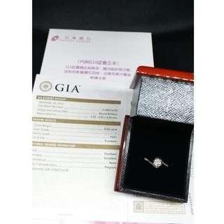 (二手 現貨)京華鑽石 GIA 鑽石 18k金36分 鑽戒 八心八箭 戒圍10 (近全新)