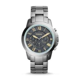 🚚 FOSSIL GRANT CHRONOGRAPH GUNMETAL STAINLESS STEEL WATCH