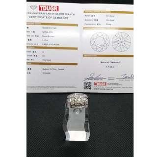 (二手 現貨)天然鑽石 k金1.05克拉 豪鑲台 鑽戒 戒圍14.5