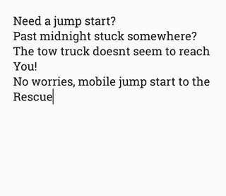 Mobile car jump start service
