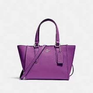 Coach CROSBY CARRYALL 21.  60% OFF Clearance Sales original price: MYR690!