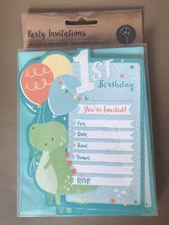 1st Birthday invitation cards