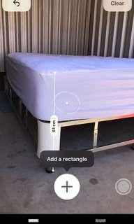 Sleep Revolution Advanced Cell Medium queen size Mattress w/ bed frame