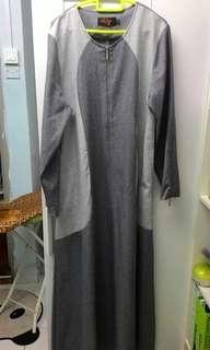 Women's jubah (grey colour)