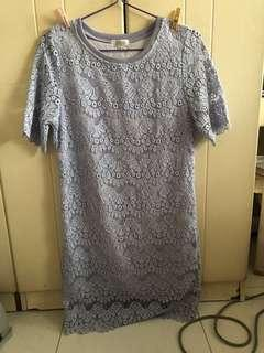 🚚 Pastel purple lace dress