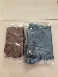 NWT BNIP Korean uzzlang top & shorts bundle