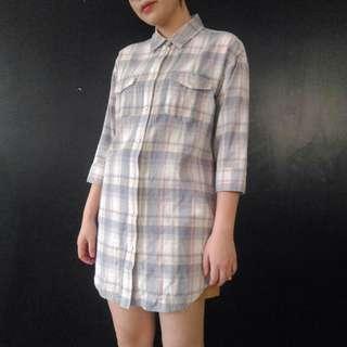 (免運)復古格紋襯衫洋裝