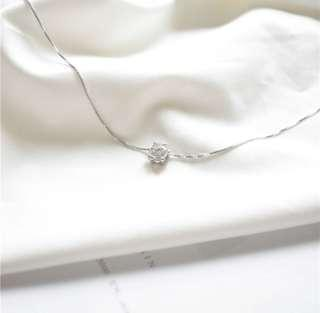 🚚 S925銀 鋯石項鍊 純銀項鍊