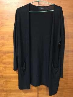 🚚 黑色針織罩衫