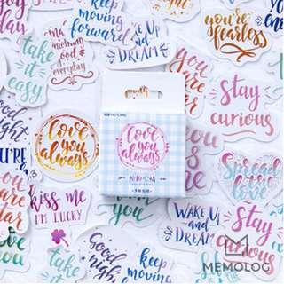 46pcs Colourful Mood Sticker Pack