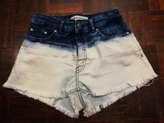 H&M Two Toned Denim Shorts
