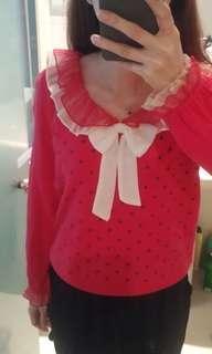 斯文款桃紅色冷衣
