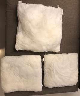 3x cushion inserts