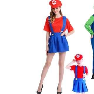 Ladies Halloween / Dress Up / Mario Bros Costume