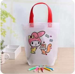 Kids DIY coloring recyclable bag