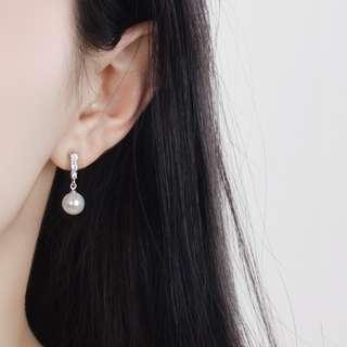 🚚 Pearl Drop earrings - Dangle earrings - Korean - Minimalist - S925 - Sterling Silver