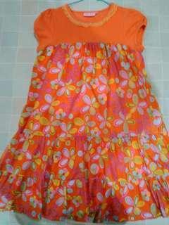 Dress flora orange