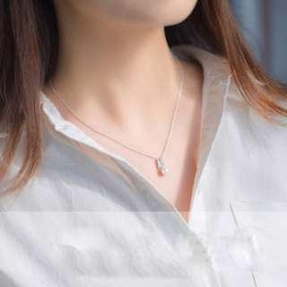 🚚 Pearl leaf collar necklace - Korean - Minimalist - S925 - Sterling Silver