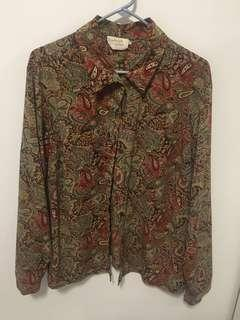 Button up patterned top