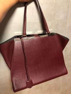 bc2b05d6c2 Beautiful fendi burgundy structured tote bag comes with dust bag