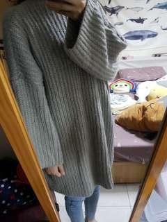 🚚 粗針織長版上衣洋裝