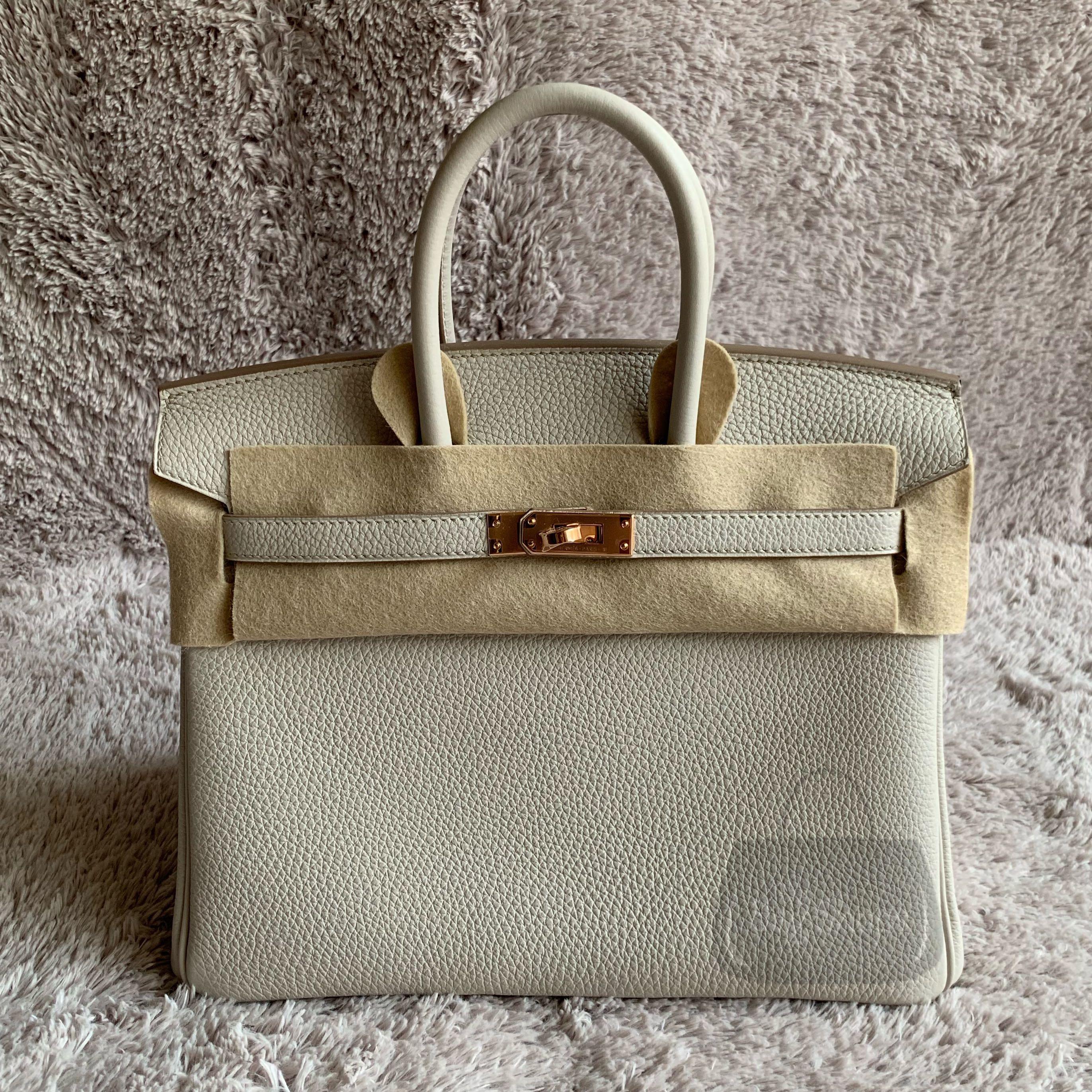 fd0b99b484 💯% Authentic Brand New Hermes Birkin 25 Beton Togo RGHW