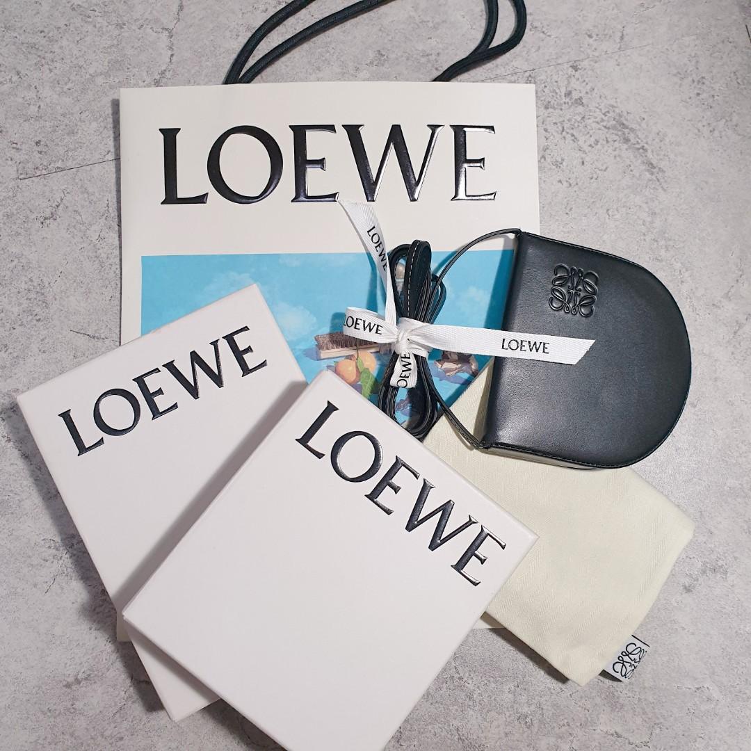 <二手良品> LOEWE Large Heel Pouch Black 零錢包/卡包/錢包