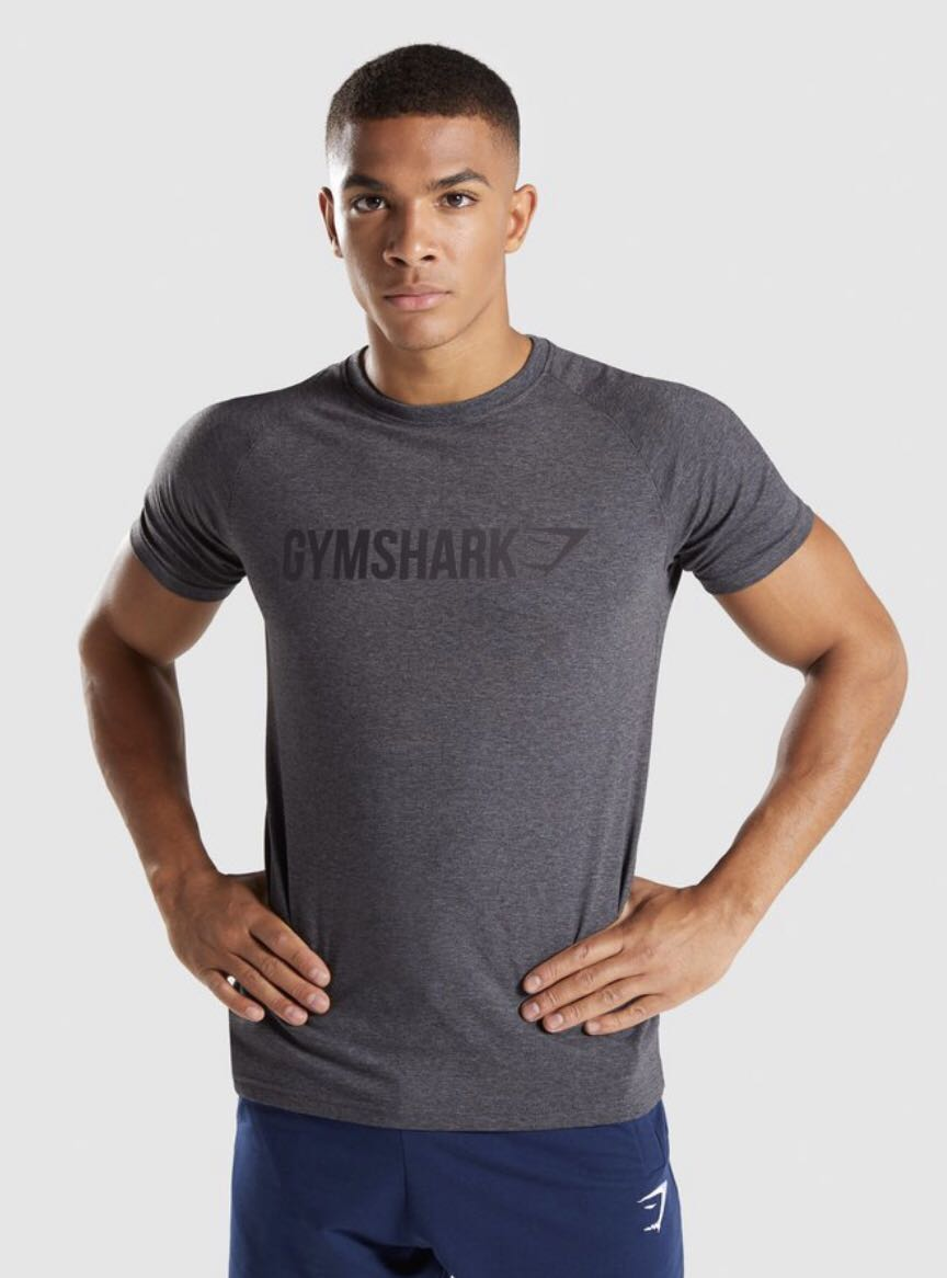f6b1a073e Authentic GymShark Apollo t shirt, Men's Fashion, Clothes, Tops on Carousell
