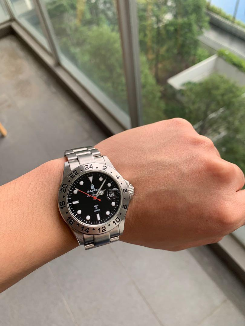Bapex A Bathing Ape Watch Explorer Ii Not Rolex Luxury Watches