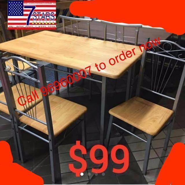 Brand New 4 seats Dining Table & Chairs set