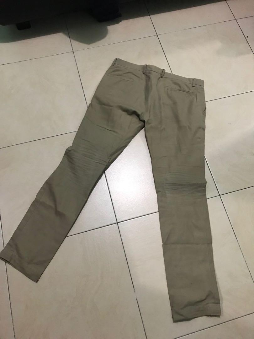 celana chino size 34 slim