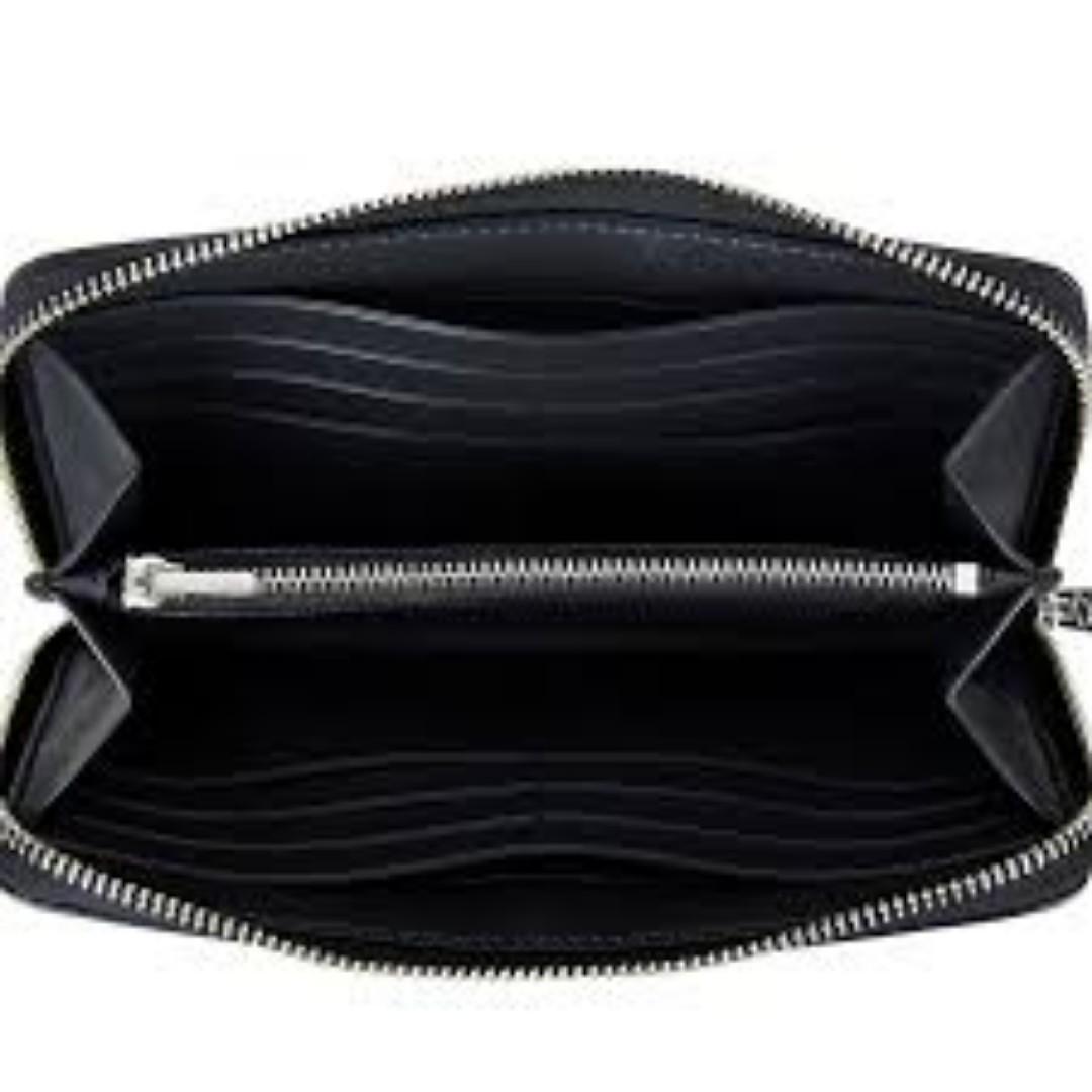 Coach Stardust Stats Accordion Zip Wallet Ladies Long Purse Black. 60% OFF Clearance Sales original price: MYR640!