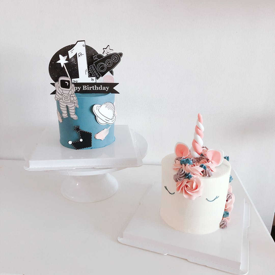 Designer Mini Tall Cake For Birthday Party Gift Twins