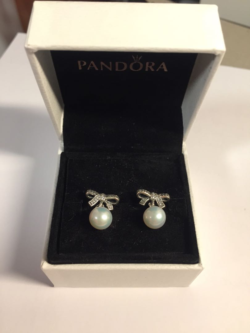 2f9fc26d8 DISCONTINUED Pandora Earrings, Women's Fashion, Jewelry on Carousell